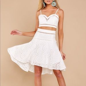 Dresses & Skirts - White lace two piece set NWT